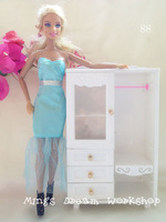 FREE SHIPPING girl's gift toy doll dream white wardrobe furniture accessories for barbie doll item no. 88 *2