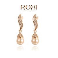 ROXI fashion new arrival, genuine Austrian crystal,fashion pearl Earrings,women trendy earringsChrismas/Birthday gift