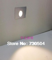 Freeshipping 1W LED Recessed Square Foot light Kit Mounted in Corner Stair Step Wall Inground Plinth Lamp AC85-260V
