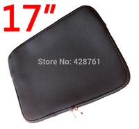 "17""&17.4"" Soft Neoprene Zippered Sleeve Case Bag Pouch for Notebook Laptop Black Diving Material SBR"