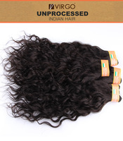100% Unprocessed Raw Indian Virgin Hair Weft Cheap 3Bundles 100g/pc Queen Indian Water wave Remy Human Hair Extension Ocean Wave