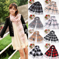 High Quality Simple Vintage Men's Women's Geometric Warm Wrap Scarf Shawl