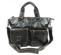 New Vintage Causal Oil Wax Leather Genuine Leather Cowhide Men Handbag Shoulder Bag Messenger Bag Bags Briefcase For Men B260