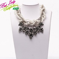 2013 Korea shourouk pearl glass pearl necklace dress exaggerated multi-layer pearl choker necklaces 6102