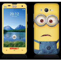 Cute Cartoon Despicable Me Minions front back Skin Stickers for Xiaomi M2 M2s Mi2 Mi2s LCD screen protector protective film
