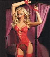 stockings Garters Tops Underwear Set women sexy Lingerie Hot Vest erotic sleepwear costumes ul239