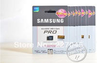 50PCS/lot Samsung Micro SD card 64GB 32GB New Pro Series class 10 MicroSD Memory Card TF 64GB 32 GB with free SD Adapter