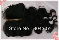 "New arrival Brazilian Lace Closure Hair Free shipping size (5 *5) 14"" 16"" 18"" middle parting Free Shipping!"