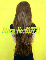 Dark Brown Synthetic  Long Wig Fashion