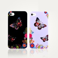Free Shipping, Fashion Mobile Phone Cases, Lovers Gorgeous IMD Painting For iPhone 4/4s Back Cover Case, MB800
