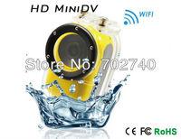 New Free shipping!! Wifi Full HD 1920x1080P 12M Outdoor Sports Helmet Action Camera Waterproof Mini DV Dash Camera