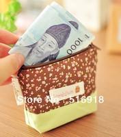 Free Shipping Fashion Zipper Coin Purse Wallet Burse Cartoon Key Fabric Cotton Canvas Bag,10pcs/lot