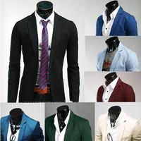 2013Top Brand men slim fit blazers suit  jacket hat clothing top quality business men dress suit  8 colors  free shipping PX01