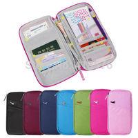 New Brand Portable Travel Passport Credit ID Card Cash Organizer Holder Wallet HandBag Storage Pouch pocket travelus Folder