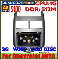 Car DVD GPS radio headunit for Chevrolet Aveo Sonic 2011 2012 2013 2014 S100 A8 Dual core 1G CPU 512M Russian menu Navitel 7.5