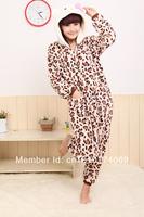 Leopard-print kitty onesies pajamas
