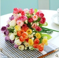 10pcs/lot,artificial flower coffee table decoration flower silk flower qq small tea rose Christmas Wedding