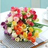10pcs/lot,artificial flower table decoration silk flower qq small tea rose wedding home decoration
