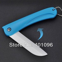 2014 New! Folding Ceramic Knife Chef Kitchen Fruit Vegetable Knife With PVC plastic bag,5 colors HK Post free shipping