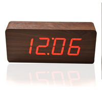 Best Selling Alarm clocks,Thermometer Wood LED Clocks, Digital Voice Table Clock,Big numbers Digital Clock