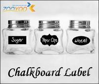 Mediumsize 5cm x 3cm vinyl chalkboard label sticker, 36 pieces/ lot blackboard wall stickers decal, great for labeling jars