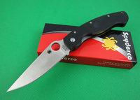 2pcs\lot Oem Spyderco C36GPE  folding knife S30V Blade Hunting Knife Military knife Camping Knife Free shipping