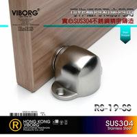 VIBORG Deluxe SUS304 Stainless Steel Casting Powerful Floor-mounted  Magnetic Door Stopper, Door Stops, Doorstops,RS-19