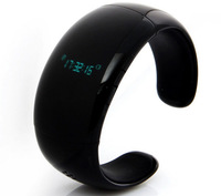 2014 Handsfree Anti-lost Bluetooth Smart Bracelet Watch for iPhone Android Phones Sync Calls Black