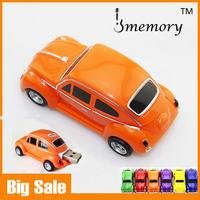 Real Capacity 2GB 4GB 8GB 16GB 32GB Plastic VW Beetle Car USB Flash Drive Pen drive Creativo USB Memory as Gift Free shipping