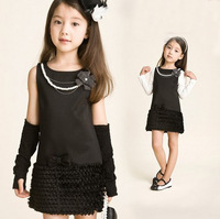 Free Shipping!New Fashion summer girls dress sleeveless child basic tank dress Children Clothes,Kids princess dress   D554