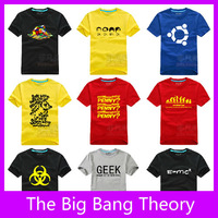 Free Shipping!Hot Sitcoms The Big Bang Theory High Quality Men's T-Shirts Sheldon Cooper Short Sleeve 100% Cotton T-Shirt