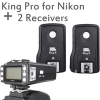 Pixel 3rd Generation Wireless TTL Flash Trigger King Pro with 2 Receivers for Nikon DSLR Cameras