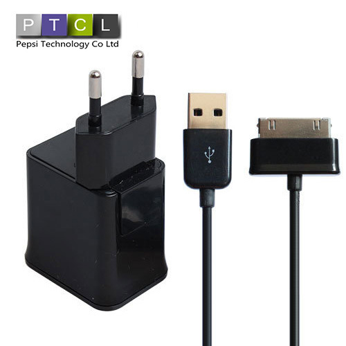 5V 2.0A 2 In 1 For Samsung Galaxy Tab P1000 P7500 P7100 P6200 EU Wall Plug USB Port + Mobile Phone Charger Tablet PC Charge(China (Mainland))