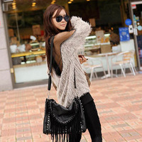 Sexy Lady Backless Long Sleeve Shirt Blouse Soft Fur Transparant Grenadine Tops Free Shipping