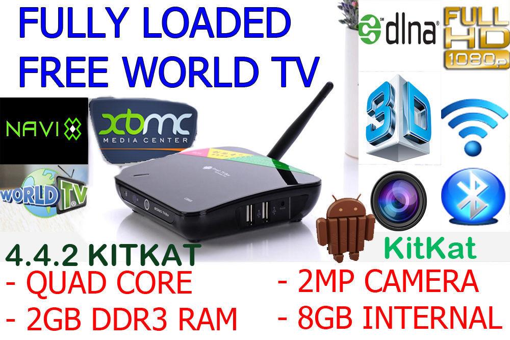 CS968 Android SMART Box QUAD CORE FREE WORLD TV MOVIES IPTV Smart TV Receiver Webcam Microphone 2G/8G HDMI AV USB RJ45 OTG WiF(China (Mainland))