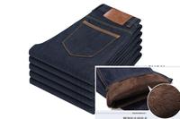 2015 fashion designer brand men jeans denim pants trousers, winter with wool warm pants jeans   9006