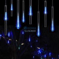 3Pcs/Lot 100-240V/EU 30CM Blue Meteor Shower Rain Tubes LED Light For Christmas Outdoor Garden Tree Decoration Lamp TK1171