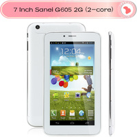 Cheap 2G Tablet  7 inch Sanei G605 2G MTK8312 Dual core Capacitive screen Android 4.2 sim slot dual camera bluetooth 512MB/4G