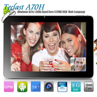 Teclast A70H Quad Core tablet PC 7inch IPS III G+G 1024*600px Android 4.2 AllWinner A31S 512MB OTG WIFI Eternal 3G free shipping