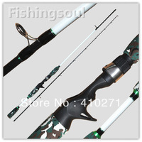 Green camouflage  fishing rod, 2 section, 180cm, 3-6kg, CTR020, Casting fishing rod