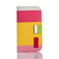 New Luxury PU Leather Wallet Flip Case Stand Cover with Credit Card Slots For Samsung Galaxy S4 SIV I9500 / Galaxy S4 mini I9190