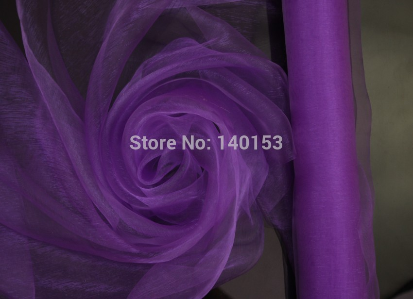 Deep Purple ORGANZA Hotel Background Wedding Decoration, 0.72 M x110 Meters/Roll, Chair Cover Sashes, Wholesale Price(China (Mainland))