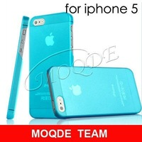 10pcs/lot Multi-color Ultra Thin 0.3mm Matte Finish Slim Fit Case For  iPhone 5 case free shipping