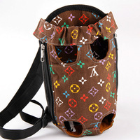 Hot!!! Small Pet Dog bag carry canvas dog carrier 4 color pet backpack dog carrier bag