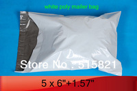 "CHEAPEST FOR SALE!!  1500pcs- 5"" x 6.26"" 12.6cm x 15.9+4.3cm WHITE POLY MAILER BAGS ENVELOPE"