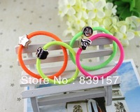 100pieces/lot  candy color Elastic hair bands   hair accessory rope  headband brief black color MIX DESIGN