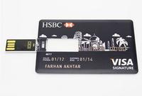 Credit Card Shape USB  2.0 memory card usb flash drives 4GB 8GB 16GB 32GB 256gb 512gb  USB pen drive gadgets Free Shipping