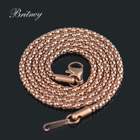1.9mm*46cm 316L women's stainless steel necklace, rose gold color stainless steel necklace chain wholesale BT064