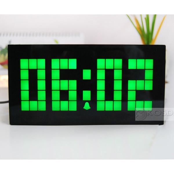 Home Decor New Design LED Clock/Wall/Desk Clock with Time/Alarm/Calendar/Temperature(China (Mainland))
