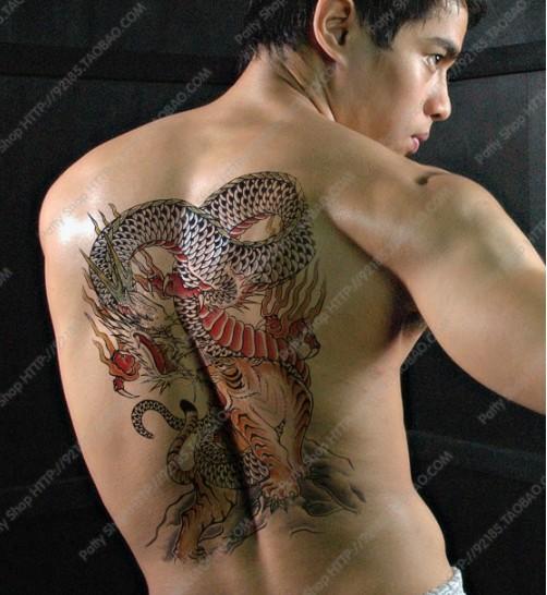 Dragon Tiger Tatoo Stickers